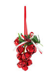 Bunch of Christmas bells Royalty Free Stock Images