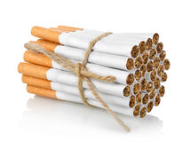 Bunch of cigarettes  Royalty Free Stock Photos