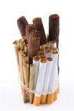 Bunch of cigarettes tobacco Royalty Free Stock Photos