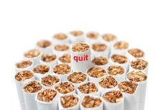 Bunch of cigarettes on a white background Stock Photography