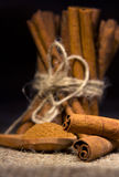 Bunch of cinnamon stick Royalty Free Stock Images