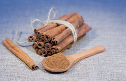 Bunch of cinnamon stick Royalty Free Stock Photo