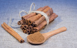 Bunch of cinnamon stick Stock Photography