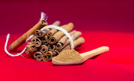 Bunch of cinnamon stick Royalty Free Stock Photos