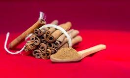 Bunch of cinnamon stick Royalty Free Stock Photos