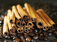 A bunch of cinnamon sticks Stock Photography