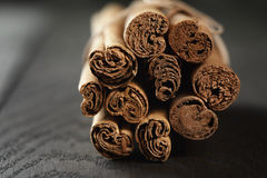 Bunch of cinnamon sticks tied with twine Stock Photography