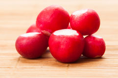 Bunch of clean radishes Stock Photography