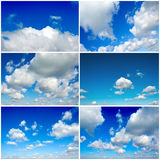 Bunch of clouds Royalty Free Stock Photo