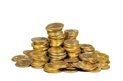 A bunch of coins Royalty Free Stock Photo