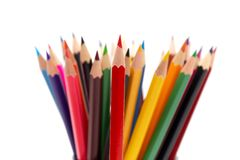 A bunch of color pencils Royalty Free Stock Photo