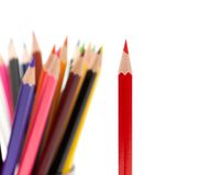 A bunch of color pencils Stock Images