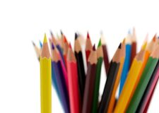 A bunch of color pencils Stock Photos