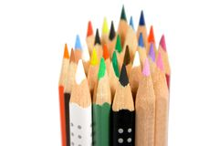 Bunch of color pencils Stock Photography