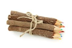 Bunch of color pencils royalty free stock image