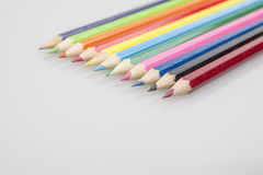 Bunch of color pencils Stock Photo