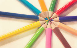 Bunch of color pencils Royalty Free Stock Photography
