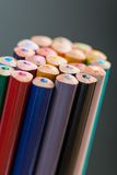 Bunch of color pencils in a stand Stock Photos