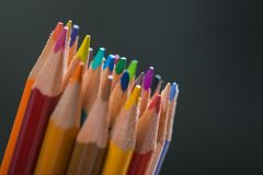 Bunch of color pencils in a stand Royalty Free Stock Photography