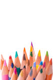 Bunch of color pencils on white Royalty Free Stock Image