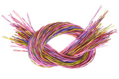 Bunch of colored computer wires Royalty Free Stock Photography