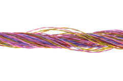 Bunch of colored computer wires Royalty Free Stock Photos