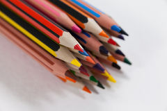 Bunch of colored pencil Royalty Free Stock Photography