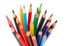 Bunch of colored pencils royalty free stock photos