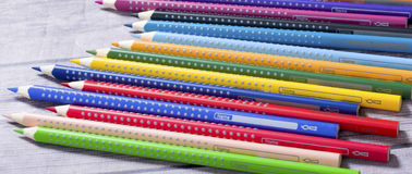 Bunch of colored pencils Royalty Free Stock Images