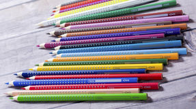 Bunch of colored pencils Royalty Free Stock Photography