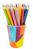 Bunch of colored pencils Stock Image