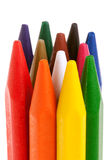 Bunch of colored pencils isolated on white Stock Photos