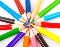 Bunch of colored pencils Stock Images