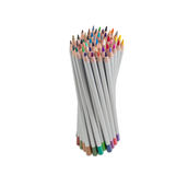 Bunch of colored pencils on a light background Stock Photography