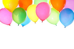 Bunch of colorful balloons background. Colorful balloons background with white space for text Royalty Free Stock Image