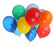Bunch of colorful balloons stock images