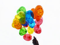A Bunch of colorful balloons Royalty Free Stock Images