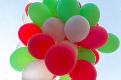 Bunch of colorful balloons. Holidays and festivals Stock Photography