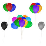 A bunch of colorful balloons. Single balloon. Stock Images