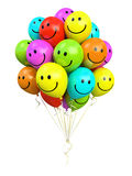 Bunch of colorful balloons smiling Royalty Free Stock Photography