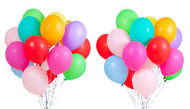 Bunch of colorful balloons on white background. Bunch of colorful balloons isolated on white background Royalty Free Stock Photos
