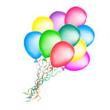 Bunch of colorful balloons. Colorful balloons on white background Stock Photo