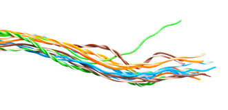 A bunch of colorful cables Stock Photo