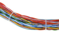 Bunch of colorful cables Stock Images