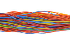 Bunch of colorful cables Royalty Free Stock Images
