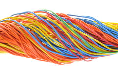 Bunch of colorful cables Royalty Free Stock Photography