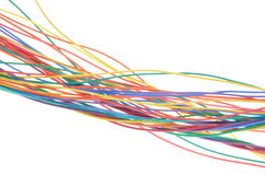 Bunch of colorful cables Stock Photography