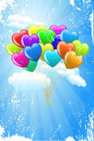 Bunch of colorful  cartoon heart Royalty Free Stock Photo