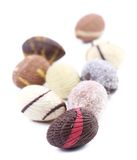 Bunch of colorful chocolate seashell. Stock Image