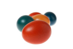 A Bunch of Colorful Easter Eggs Stock Images